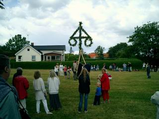 The raising of the maypole. Not as exciting as it sounds.